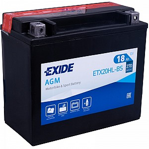 Moto akumulator Exide  ETX20HL-BS 12V-18Ah