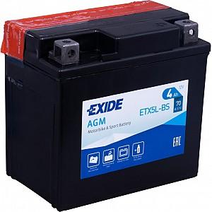 Moto akumulator Exide ETX5L-BS 12V-4Ah