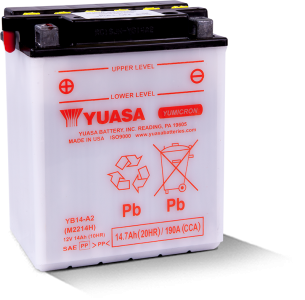 Moto akumulator Yuasa YB14-A2 12V-14Ah