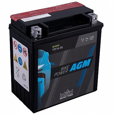 Moto akumulator Intact AGM YTX16-BS 12V-14Ah