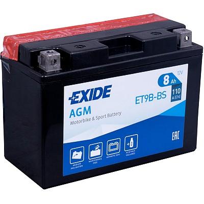 Moto akumulator Exide ET9B-BS 12V-8Ah