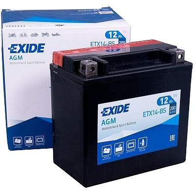 Moto akumulator Exide  ETX14-BS 12V-12Ah