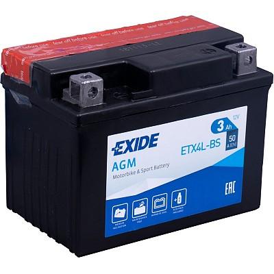 Moto akumulator Exide  ETX4L-BS 12V-3Ah