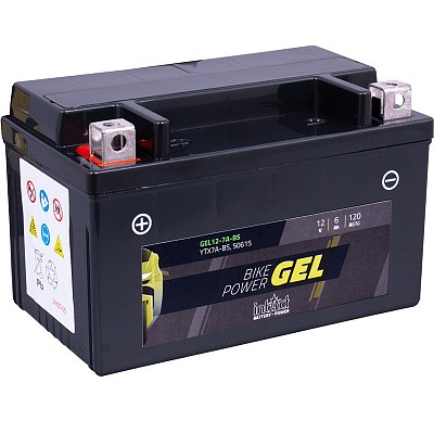 Moto akumulator Intact GEL YTX7A-BS 12V-6Ah