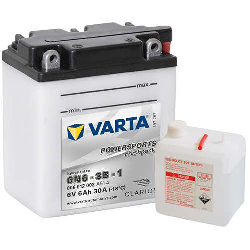 Moto akumulator Varta 6N6-3B-1 6V-6Ah