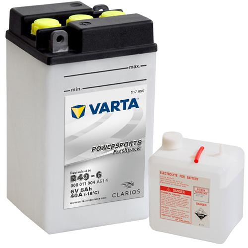 Moto akumulator Varta B49-6 6V-8Ah