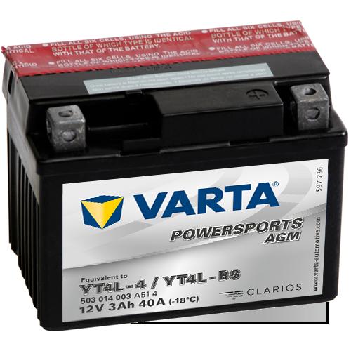 Moto akumulator Varta YT4L-BS 12V-3Ah
