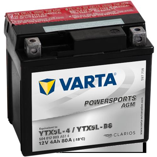 Moto akumulator Varta YTX5L-BS 12V-4Ah
