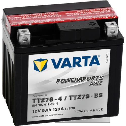 Moto akumulator Varta TTZ7S-BS 12V-5Ah
