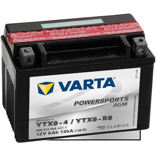 Moto akumulator Varta YTX9-BS 12V-8Ah
