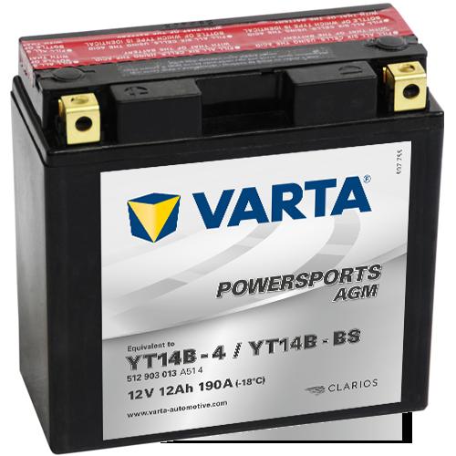 Moto akumulator Varta YT14B-BS 12V-13Ah