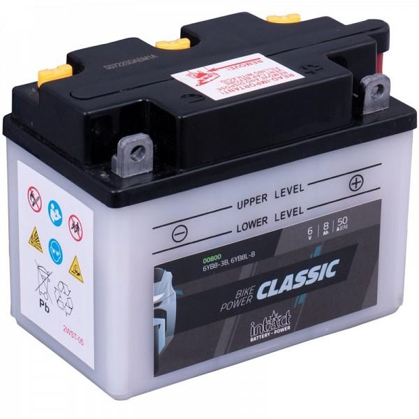 Moto akumulator Intact 6YB8-3B 6V-8Ah