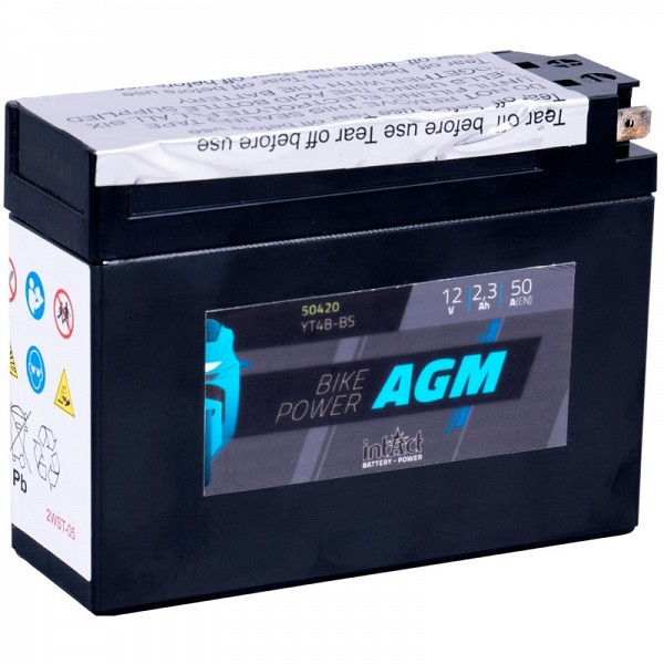 Moto akumulator Intact AGM YT4B-BS 12V-2,3Ah
