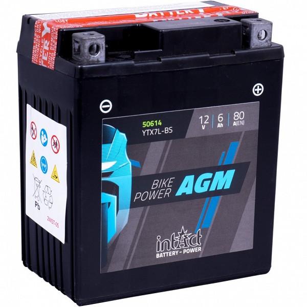 Moto akumulator Intact AGM YTX7L-BS 12V-6Ah