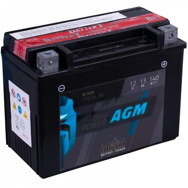 Moto akumulator Intact AGM YTX15L-BS 12V-13Ah