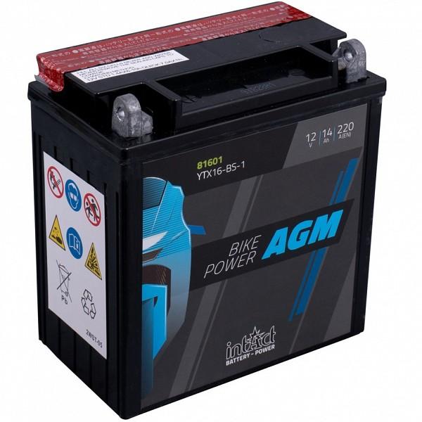 Moto akumulator Intact AGM YTX16-BS-1 12V-14Ah