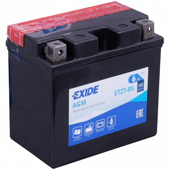 Moto akumulator Exide  ETZ7-BS 12V-6Ah