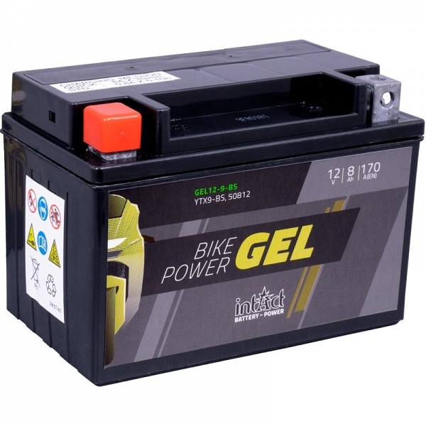 Moto akumulator Intact GEL YTX9-BS 12V-8Ah
