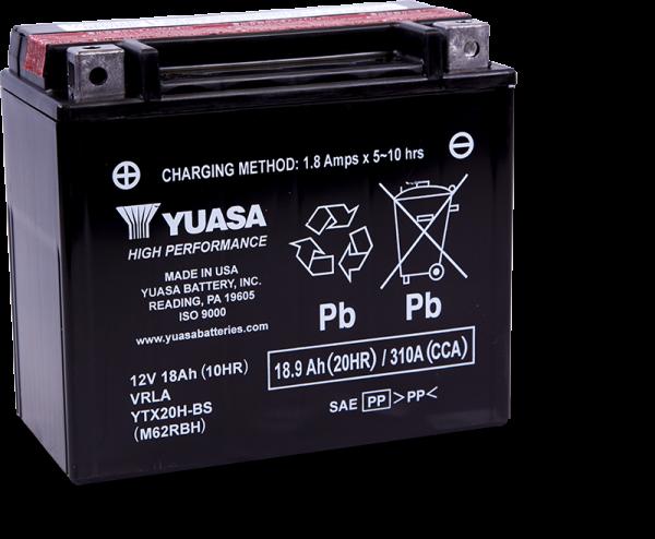 Moto akumulator Yuasa AGM YTX20H-BS 12V-18Ah
