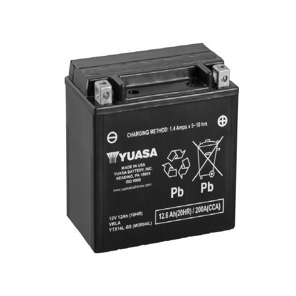 Moto akumulator Yuasa AGM YTX14L-BS 12V-12Ah