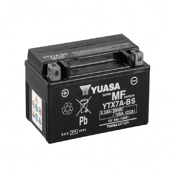 Moto akumulator Yuasa AGM YTX7A-BS 12V-6Ah