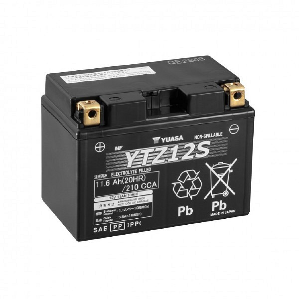 Moto akumulator Yuasa AGM YTZ12S 12V-11Ah