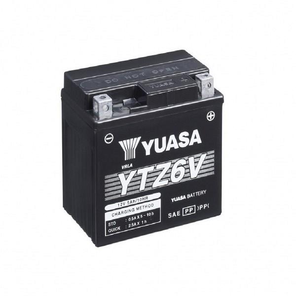 Moto akumulator Yuasa AGM YTZ6V 12V-5Ah