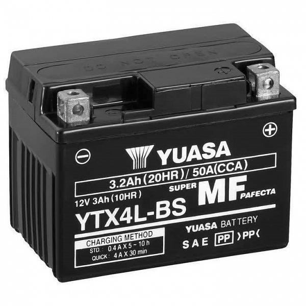 Moto akumulator Yuasa AGM YTX4L-BS 12V-3Ah